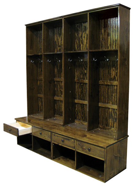 Shown in Walnut Stain with a Poly overcoat