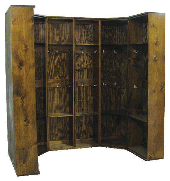 CUSTOM - Double Corner Locker Setup   Custom Wooden Lockers   Sawdust City Custom Furniture