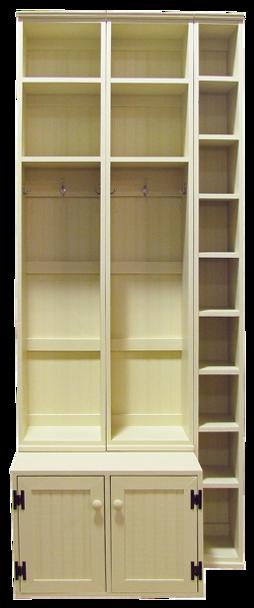 CUSTOM - Lockers with Skinny Shoe Storage   Custom Pine Storage Locker   Sawdust City Custom Furniture