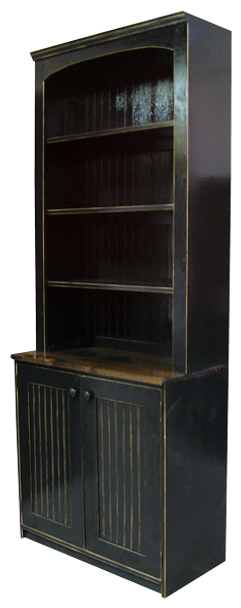 Show in Old Black, Walnut, and a protective Poly coat