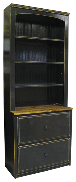 Shown in Old Black, Walnut, and a protective Poly coat