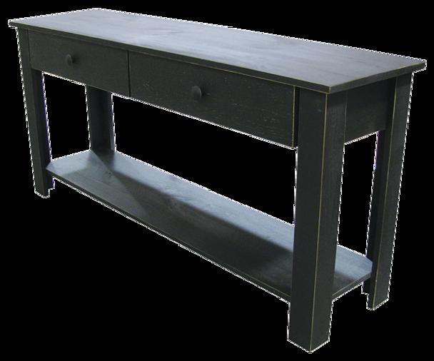CUSTOM - Large Sofa Table with Drawers - Sawdust City LLC