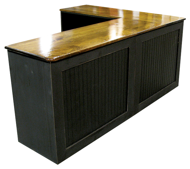 Shown in Old Black with Walnut Stain & Poly