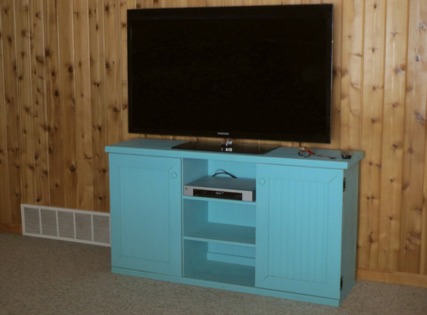 CUSTOM - Flat-Wall TV Stand   Custom Pine TV Stand   Sawdust City Custom Furniture