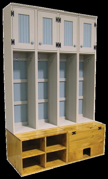 CUSTOM - Hidden Catbox Bench & Lockers | Custom Pine Catbox Lockers | Sawdust City Custom Furniture
