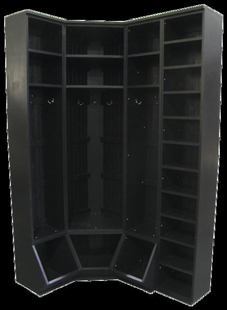 CUSTOM - Inside Corner Locker Setup | Custom Pine Lockers | Sawdust City Custom Furniture