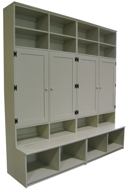 CUSTOM - Locker Cabinets on Benches