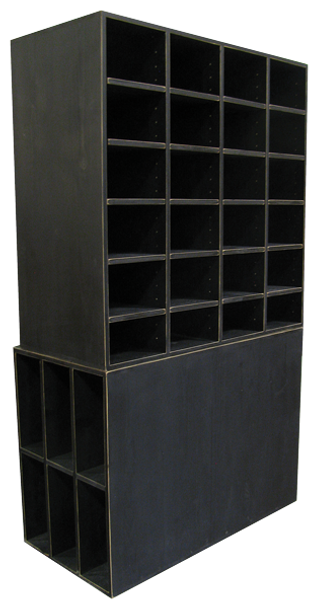 CUSTOM - Large Black Cubby Storage