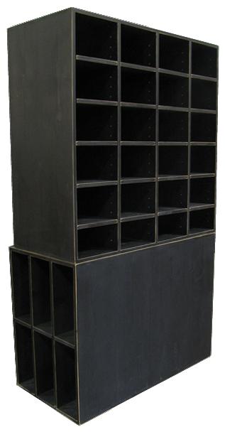 CUSTOM - Large Black Cubby Storage   Custom Large Pine Cubbies   Sawdust City Custom Furniture