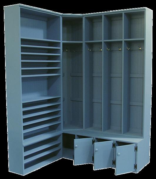 CUSTOM - Corner Locker & Shelving Unit   Custom Pine Stroage Unit   Sawdust City Custom Furniture