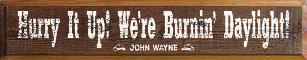 Shown in Old Barnboard with Cottage White lettering