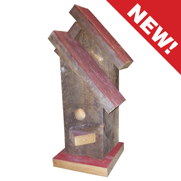 Reclaimed Wood Birdhouse Decor