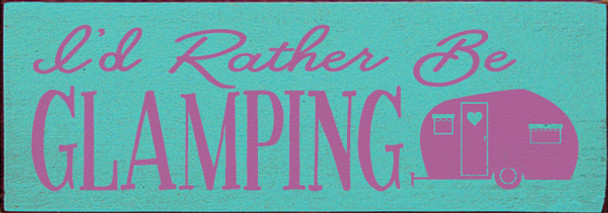 Shown in Old Aqua with Plum lettering