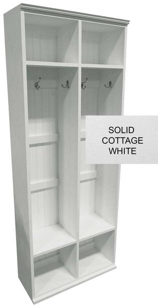 Mudroom Locker Shown in Cottage White