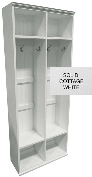 Mudroom Locker Shown in Cottage White