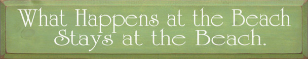 What Happens At The Beach Stays At The Beach (large) |Beach Wood Sign| Sawdust City Wood Signs