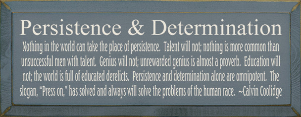 Persistence & Determination...|Inspirational Wood Sign With Famous Quotes | Sawdust City Wood Signs
