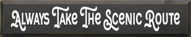Shown in Old Charcoal with Cottage White Lettering