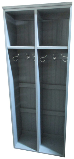 2-Locker Unit - Solid Slate