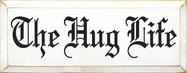 Shown in Old Cottage White with Black Lettering