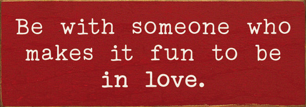 Simple wooden sign love shown on Red with Cottage White