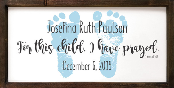 12x24 wood framed sign shown with Old Cottage White, Black, and Baby Blue