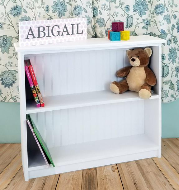 Small Hallway Bookcase   3-Shelf Hall Bookcase     Sawdust City Bookshelf in Solid Cottage White