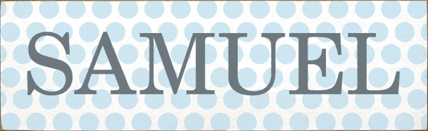 Custom Polka Dot Name Sign | Personalized Kid's Room Sign | Sawdust City Custom Childrens Sign