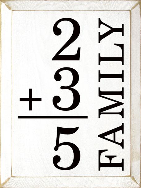 Custom Family Math Sign   Sawdust City Wood Signs