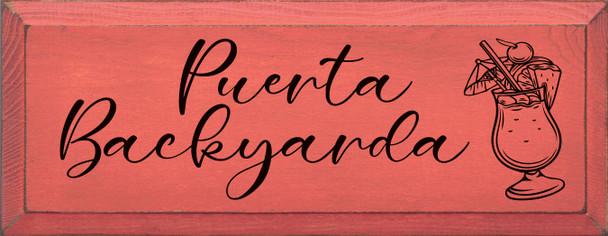 Puerta Backyarda | Fun Wood Signs | Sawdust City Wood Signs