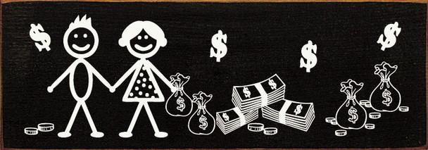 Stick Couple with Money