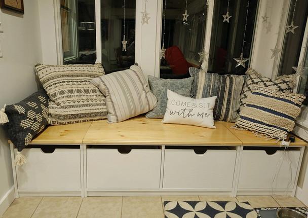 Custom Window Seat with Drawer Storage | Sawdust City Custom Pine Furniture