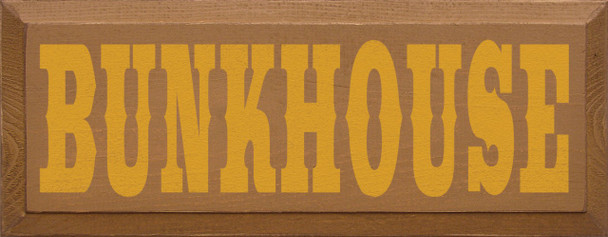 Shown in Old Toffee with Mustard lettering