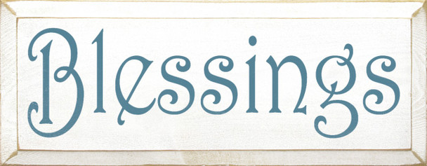 Blessings   Family and Friends Wood Sign    Sawdust City Wood Signs