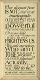 Our deepest fear is not that we are inadequate..  Deepest Fears Wood Sign  Sawdust City Wood Signs