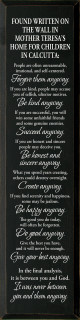 Large Inspirational Wood Sign | Found Written on the Wall in Mother Teresa's Home  | Sawdust City Sign in Old Black & Cottage White