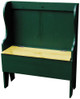 Rustic Storage Bench | Deacon Bench Retail | In Old Green with Stained Seat