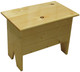 Small bench for home decor | Small 2' Storage Bench | In Butternut Stain & Poly