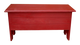 Rustic Knotty Pine Bench | Wood Storage Bench 3' Long | In Old Red