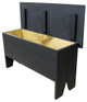 Rustic Knotty Pine Bench | Wood Storage Bench 3' Long | In Solid Black