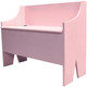Rustic Storage Bench | Sawdust City LLC Boot Bench | In Baby Pink