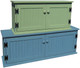 Knotty Pine Storage Unit | Shoe Storage Bench | 3ft. Shown in Solid Sage and 4ft. Shown in Solid Williamsburg Blue