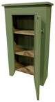 Narrow Pine Cupboard | Cupboard For Small Spaces | Shown in Old Sage