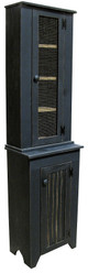 Shown in Old Black with a beadboard door and #82 Tall Jelly Hutch Top shown with screen door (each piece sold separately)