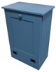 Small Wood Tilt-Out Trash Bin | Pine Furniture Made in the USA | Sawdust City Trash Bin in Solid Williamsburg Blue