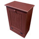 Small Wood Tilt-Out Trash Bin | Pine Furniture Made in the USA | Sawdust City Trash Bin in Old Burgundy