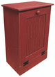 Small Wood Tilt-Out Trash Bin | Pine Furniture Made in the USA | Sawdust City Trash Bin in Old Red