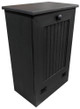 Small Wood Tilt-Out Trash Bin | Pine Furniture Made in the USA | Sawdust City Trash Bin in Solid Black