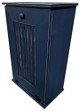 Large Wood Tilt-Out Trash Bin with Shelf | Solid Pine Furniture Made in USA | Sawdust City Trash Bin in Old Blue