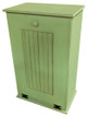 Large Wood Tilt-Out Trash Bin with Shelf | Solid Pine Furniture Made in USA | Sawdust City Trash Bin in Old Celery